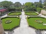 Palazzo-Parisio-giardino-all'italiana-dal-salone-centrale
