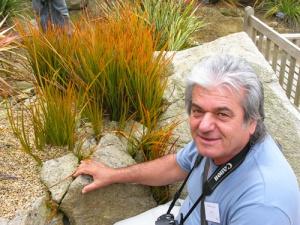 Il signore nella foto è un entusiasta delle Libertia; per chi non l'ha mai visto si chiama Renzo Crescini e alla frazione Pedrocca di Cazzago San Martino (Bs) regge le sorti del grande vivaio di perenni Valfredda, che purtroppo si ostina a non vendere al pubblico, ma solo all'ingrosso. Ho fotografato Renzo accanto a Libertia peregrinans in Bretagna, all'isola di Batz, nello splendido giardino botanico Georges Delaselle.