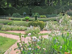 castello-di-Cormatin-fiori-bianchi-e-forme-topiarie