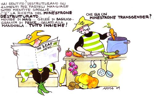 Il-presente,-che-minestrone-in-una-vignetta-di-Rita-Ammassari